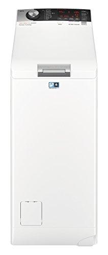 AEG L7TE84565 Waschmaschine/Energieklasse A+++ (122 kWh pro Jahr / 6 kg/ProSteam Technologie/ProSense Mengenautomatik/Toplader Waschautomat/Startzeitvorwahl / Knitterschutz/Startzeitvorwahl / Weiß