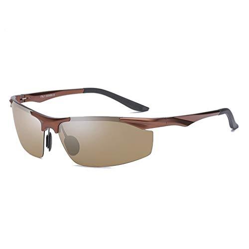 Jinxiaobei Herren Sonnenbrillen Sport polarisierte Sonnenbrille for Männer Frauen polarisierte Sonnenbrille polarisierte UV400 Sport Sonnenbrille Superlight Frame Design (Color : Brown)