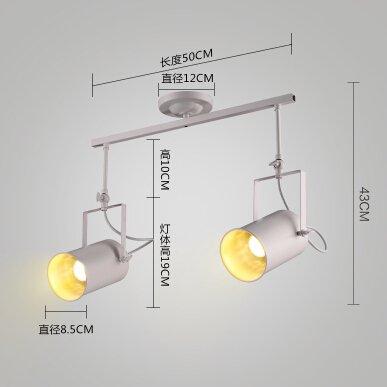 Hoobor House seppia attico via Led lampada da soffitto industriale di Barra Luminosa personalità abbigliamento focalizzata a doppia lampada testa,2 il primo White