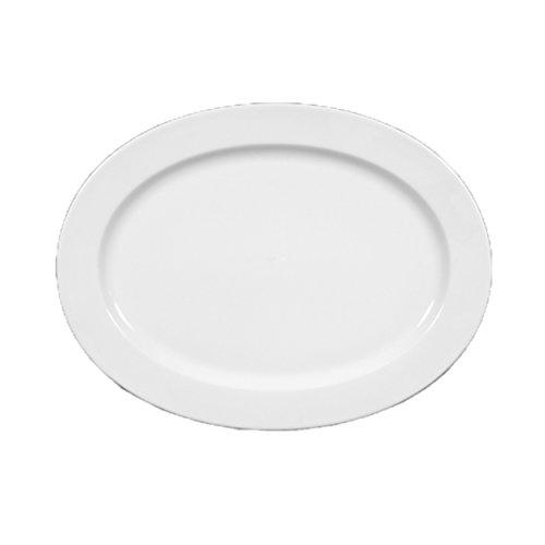 Seltmann weiden lukullus plateau de service ovale-porcelaine-blanc-passe au lave-vaisselle, 1110218 l 35 cm