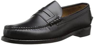 Sebago Classic 766-71, taille 46.5, noir, semelle en cuir, cuir lisse