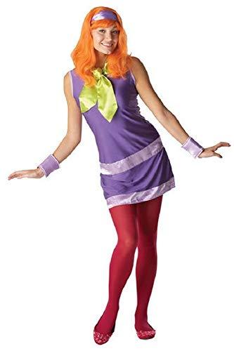 Damen 4 Stück Sexy Daphne Perücke von Scooby-Doo 1960s Jahre 60s Jahre Kostüm Kleid Outfit UK 8-18 - Multi, Multi, 8-10