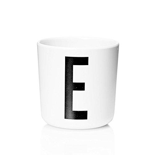 Kumkey Buchstaben Becher Kinder Baby Trinkbecher Becher Einfacher Stil Tasse 300ml Kaffeetasse Teetasse Kaffeebecher Sukkulenten Pflanzen Topf Multifunktional Becher ohne Griff (E)