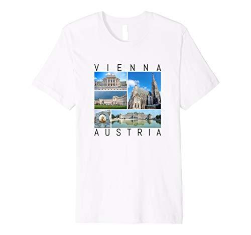 Wien T-Shirt Österreich Souvenir berühmte Sehenswürdigkeiten