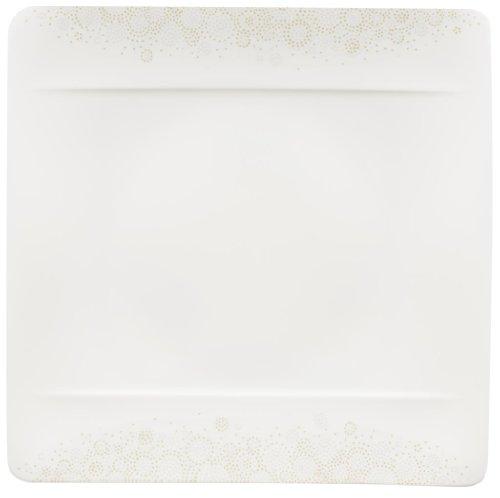 Villeroy & Boch 10-4511-2610 Modern Grace Grey Speiseteller, 27 x 27 cm, Premium Bone Porzellan -