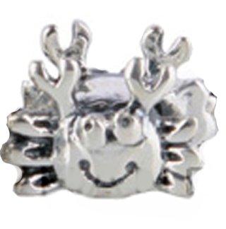 Happy sonriente cuenta para pulsera de cangrejo - 925. Broche de plata de ley Nuevo - Compatible con joyas Pandora pulseras Chamilia de seguridad europeo etc colgantes