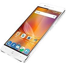 """ZTE Blade A610 - Smartphone libre de 5"""" (4G, MediaTek MT6735, 2 GB de RAM, almacenamiento interno de 8 GB, Bluetooth, WiFi, Android), color plata"""
