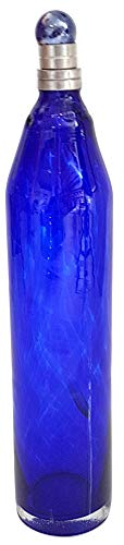 Oberstdorfer Glashütte Glas Flasche antiker Stil mundgeblasen, Karaffe Antike Styl in Kobalt blau mit Zinnverschluss Lebensmittelecht, Inhalt 0,5 Liter, Höhe ca. 30 cm Durchmesser ca. 6 cm (Glas Flaschen Antike)