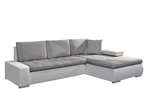 Ecksofa Orkan Mini Bris mit Schlaffunktion und Bettfunktion, Eckcouch mit Bettkasten, Couch, L-Form Sofa (Soft 017 + Bristol 2460)