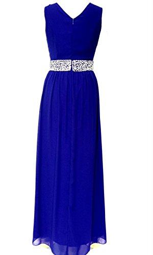 Damen verschönert blau maxi kleid Brautjungfer Kleid Abendkleid Blau ...