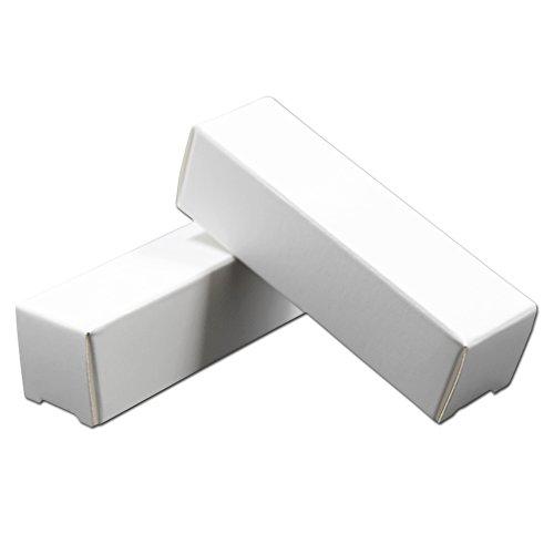 200 Stück 2x2x8.5cm Weiß Kraftpapier Lippenstift Verpacken Box Kosmetikum Parfümerie Fettstift Geschenke Verpackung Schachtel Kraft Papier Büchse Kasten