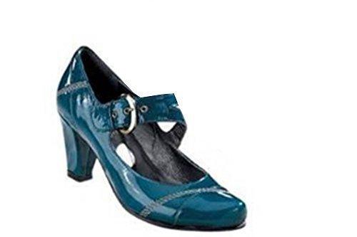 Strap scarpe col tacco di A. Conti pelle antracite Antracite