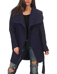 Lana Giacche E Abbigliamento Blu La Amazon Donna it Cappotti wxIvE