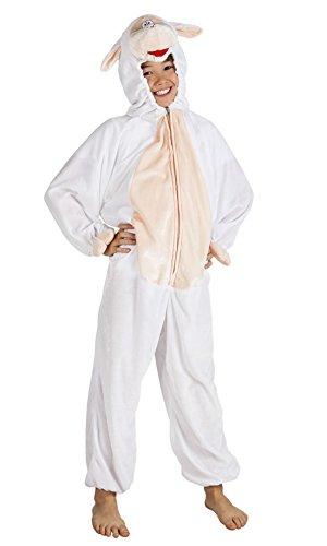 Faschingsfete Kinder Motto-Party Karneval Kostüm Schaf Onsie, Jumpsuit, -