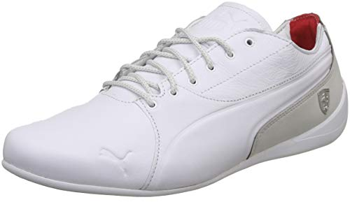 PUMA Ferrari Drift Cat 7 Lifestyle Herren Sneaker Puma White-Gray Violet 8 (Puma Schuhe Ferrari Weiss)
