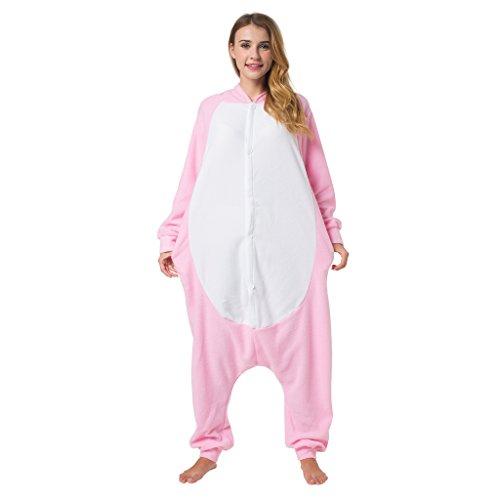 Imagen de kigurumi pijama disfraz de animal traje de dormir para adultos unisex  ideal para cosplay, carnaval o halloween  cerdo con capucha xl alternativa