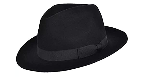 Men Women Black 100/% Wool Navy Blue Gladwin Bond Snap Brim Fedora Hat