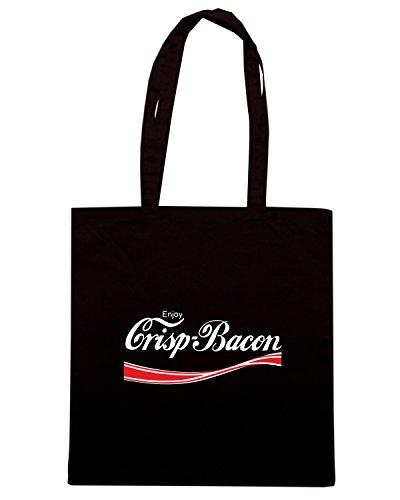 T-Shirtshock - Borsa Shopping ENJOY0047 Enjoy Crisp Bacon Nero