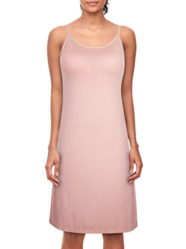 Dylh donna sottoveste con spalline regolabili sottovesti con reggiseno camicie e négligé camicia da notte donna lingerie rosa 42 44