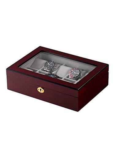 Rothenschild Uhrenbox RS-1087-10C für 10 Uhren Cherry