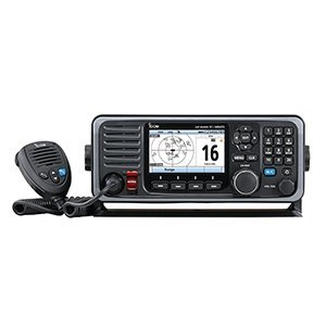 Icom M605 Fixed Mount 25W VHF w/Color Display, AIS & Rear Mic Connector 25w Vhf Fixed Mount