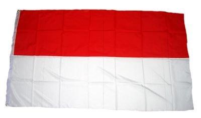Flaggenking Schützenfest Fahne, rot/weiß, 150 x 90 cm