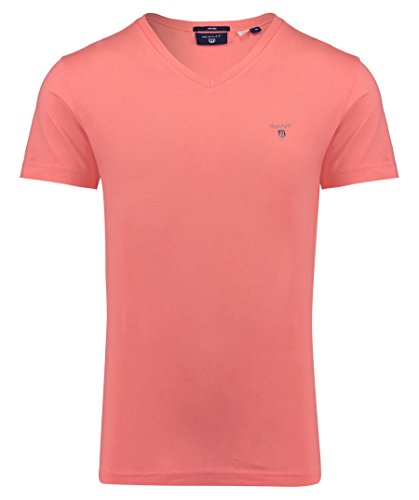 GANT Herren The Original Fitted V-Neck T-Shirt Pink