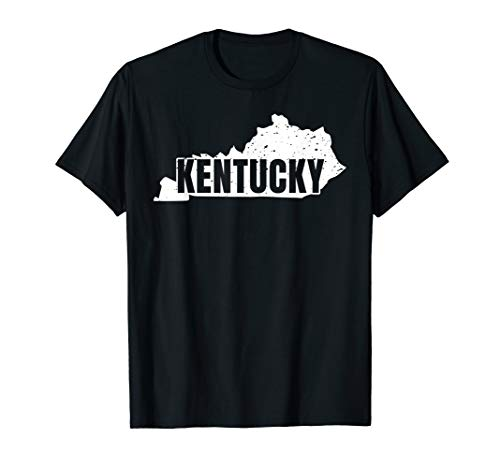 Stolzes Staat Kentucky-Weinlese-Form-Schattenbild T-Shirt -