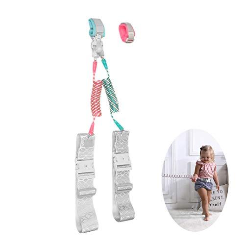 WYJHNL Baby Antiverlust Sicherheit Handgelenk Geschirre Link 360° Drehung Reflektierendes für Kleinkind Gürtel Walking Hand Leine Gurt Seil Sicherheitsgeschirre mit Tastensperre für Kinder,2.5m
