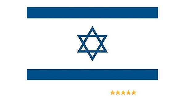 U24 Aufkleber Israel Flagge Fahne 8 X 5 Cm Autoaufkleber Sticker Auto