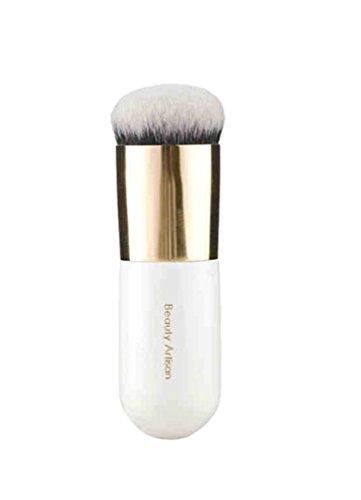 NiSeng Maquillage Brosse Cosmétique Pinceau Fond de Teint pour Crème ou Poudre Blanc