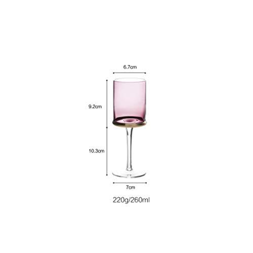 duxiaoxiaoxiao Champagner Gläser Weingläser lila Glas Wasser unedlen Metallen (Champagner-gläser Lila)