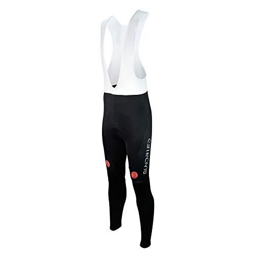 Sundried Mens Radfahren Trägerhose Rennrad Gepolsterte Bib Pants Mountainbike Kleidung (schwarz, L)