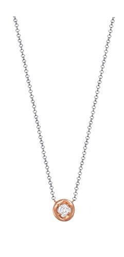 Esprit Damen-Erbskette Twist 925 Silber rhodiniert Zirkonia weiß Rundschliff