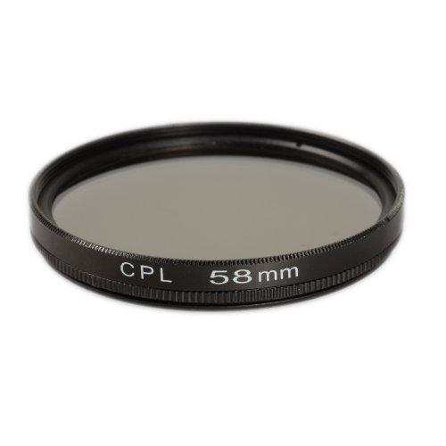 Ares Foto CPL Polfilter für 58 mm Filtergewinde Polarisationsfilter Filter für Olympus M.ZUIKO DIGITAL ED 40‑150mm 1:4.0‑5.6 R SCHWARZ
