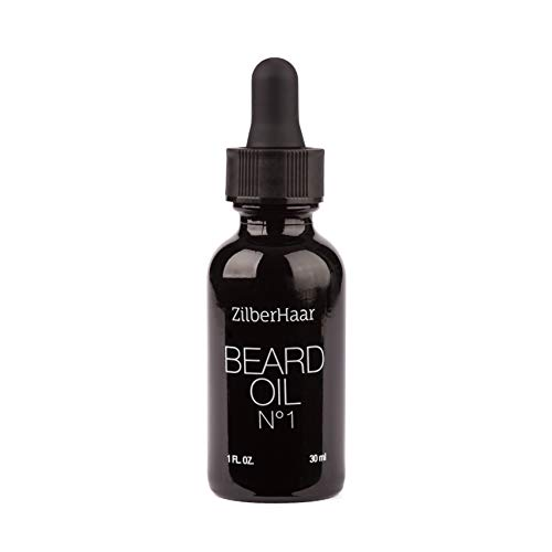 zilberhaar Bart Öl # 1-Pure, Organic Marokkanisches Argan und Jojoba-Öl für Natur Bart Wachstum und Hydration-1oz-GRATIS Bartkamm Geschenk