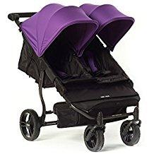 Baby Monsters Silla Gemelar Easy Twin Color Morado + Textil Adicionalde Regalo en Otro Color
