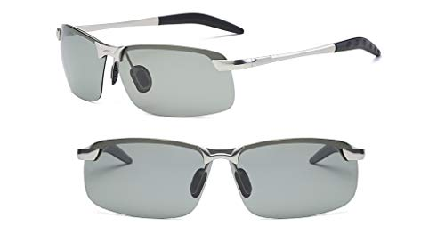 YUZHIYU Photochromic Polarized Sunglasses Sports Eyewear UV Protection Fishing Golf Goggles for Men C3