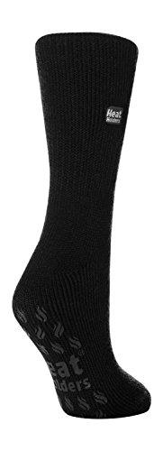 HEAT HOLDERS Damen Thermal Slipper Socken Größe, 7 Farben zur Auswahl, 37-42 eu (Schwarz)