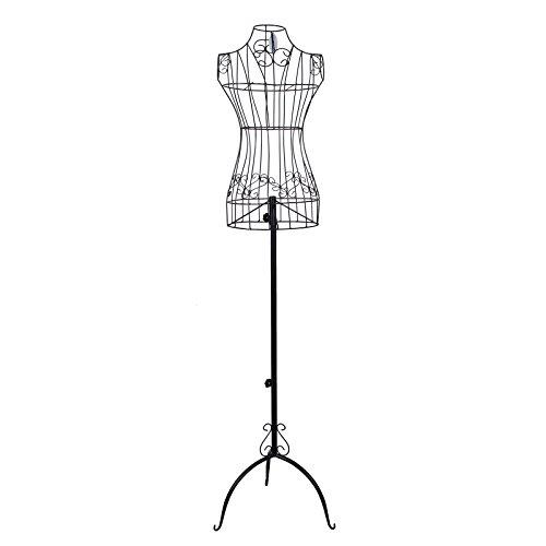 Songmics manichino nero ferro manichino sartoriale appendiabiti altezza 170 cm circa hra10b