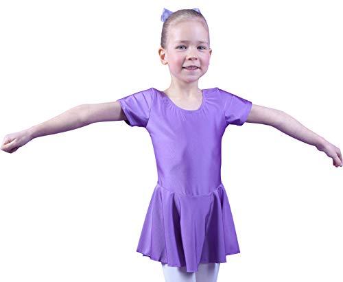 Flieder Prinzessin Kind Kostüm - tanzmuster Kinder Kurzarm Ballett Trikot Marina