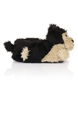 Loungeable Boutique, Nouvelles pantouffles animakes confortables pour femmes Scruffy Dog