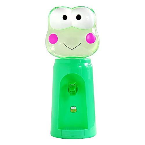 Ibaste-zubehör mini distributore di acqua 2,5 litri 8 tazze di acqua cartoon cute animal dispenser buon regalo per bambini, rana,