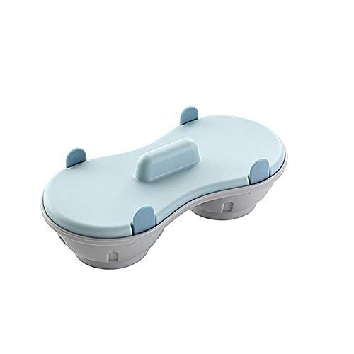 Nicedier-Tech Bandeja de Huevos al Vapor Creativa Huevo Caja de microondas Doble al Vapor Horno Microondas...