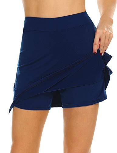 MAXMODA Jupe de Golf Mini Short pour Fille/Femme Activité...