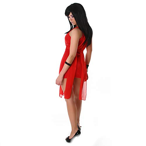 AD LIB - London 884_Red Damen Rot X-Small Cocktail-Kleid Schulterträger Dress Elegant Sexy Elegant