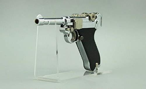 FMN-HT, Pistolenständer 50 stücke Für Pistole Display Rack Acryl Pistolen Display Halter Spielzeugpistole Modell Zeigt Pistole Fahrrad Licht Taschenlampe Ständer Rack (Color : Clear)