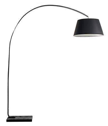 Luminaire Kurt, lampadaire métal, 40 W, noir, L L 160 x H190 cm