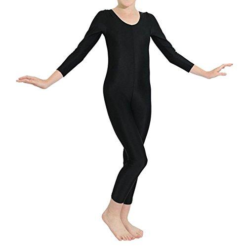 iEFiEL Tuta Leotard per Bambina Vestito da Balletto Ragazza Body da Ginnastica Danza Elastica con/Senza Zipper per Competizione Dancewear Allenamento