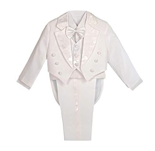 Lito Angels Completo elegante per bambini, per paggetti e il battesimo, set da 5 pezzi White (With Waistcoat) 24 mesi